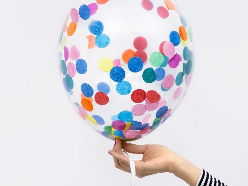 <b>Globos de confeti </b><br>– Círculos de colores</b> <br>30 cm